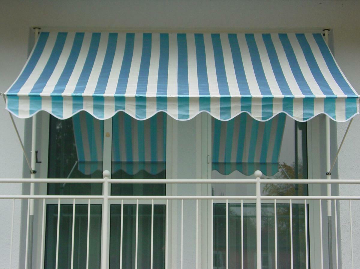 Bild 1 von Angerer Klemmmarkise blau/weiß 150 cm
