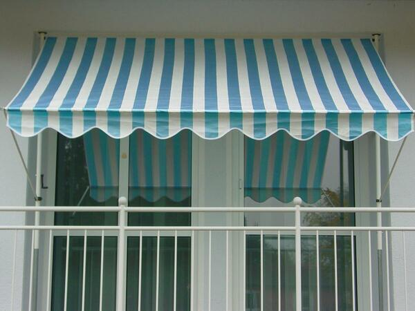 Angerer Klemmmarkise blau/weiß 150 cm