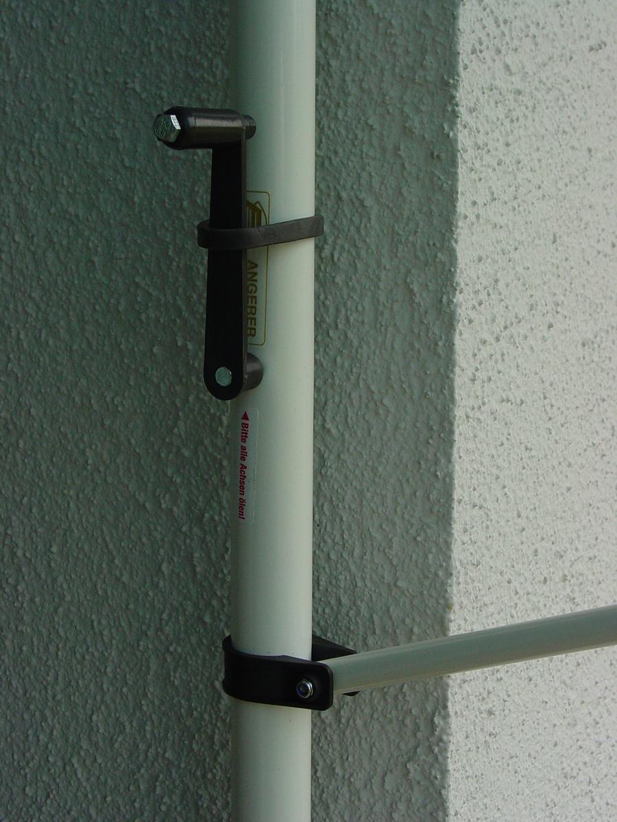 Bild 2 von Angerer Klemmmarkise blau/weiß 150 cm