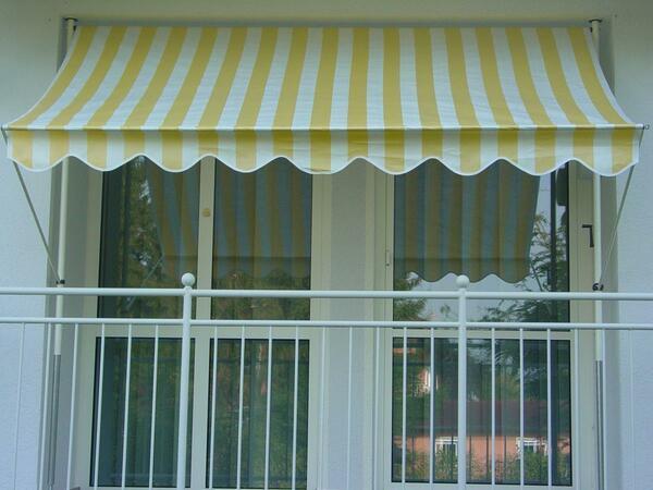 Angerer Klemmmarkise gelb/weiß 150 cm