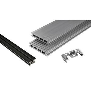 Kosche -              Kosche Terrassendielenpaket 'Kovalex' WPC 210 x 300 cm grau