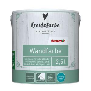 toomEigenmarken -              toom Kreidefarbe Wandfarbe leinengrau kreidig-matt 2,5l
