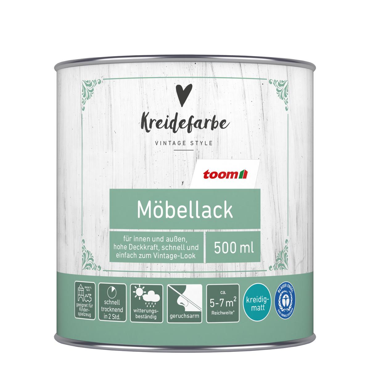 Bild 1 von toomEigenmarken -              toom Kreidefarbe Möbellack kreideweiß matt 500 ml