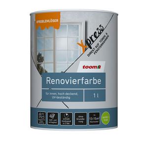toomEigenmarken -              toom Renovierfarbe für Fenster und Türen weiß seidenmatt 1 l