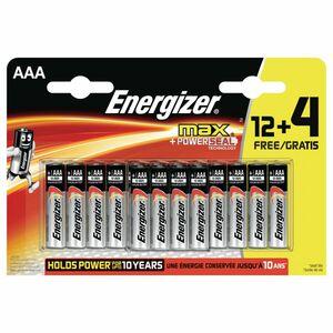 Energizer Alkaline Eco Advanced AAA / LR03 1.5V recycelte Einwegbatterien, 12er-Pack + 4