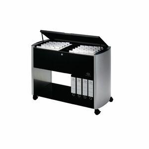 Durable Hängewagen Business-Boy, A4/Folio, Edelstahl, 1 Etage, 985 x 440 x 695 mm, schwarz/silber
