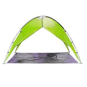 Zelt mit offenen Seiten in grün oder blau