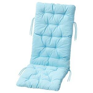 KUDDARNA                                Sitz-/Rückenpolster/außen, hellblau, 116x45 cm