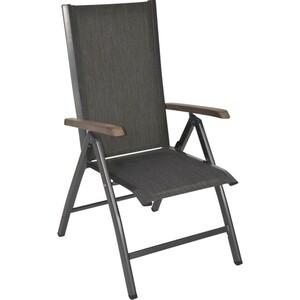 Hochlehner Volterra anthrazit 7Positionen Aluminium klappbar Textylen Stuhl