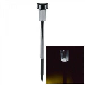 LED Solarleuchte 36,5x4,7 cm Edelstahl mit Bodenspieß