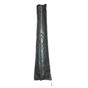 Sonnenschirm Schutzhülle Ø4m grau PE Abdeckung mit Reißverschluss und Stock