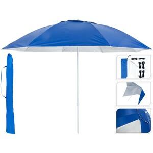Sonnenschirm 240 cm mit Seitenteilen in blau weiß