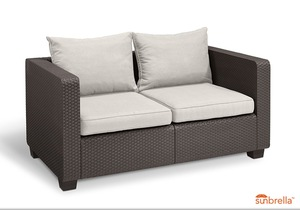Salta Lounge 2-Sitzer-Sofa Braun