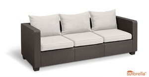 Salta Lounge 3-Sitzer-Sofa Braun