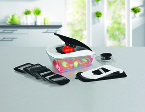 GOURMETmaxx Multi-Schneider Chop n Slice Pro 16-tlg. schwarz/weiß