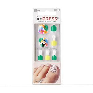 KISS imPRESS Press-on Pedicure selbstklebende Fußnäge - Hotstepper