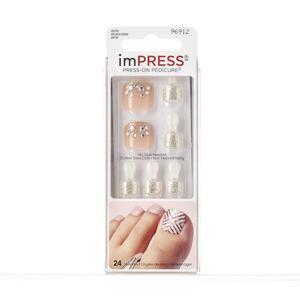 KISS imPRESS Press-on Pedicure selbstklebende Fußnägel - Landslide