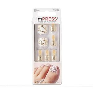KISS imPRESS Press-on Pedicure selbstklebende Fußnägel - Tough Love