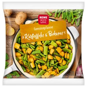 REWE Beste Wahl Gemüsepfanne Kartoffeln & Bohnen 500g