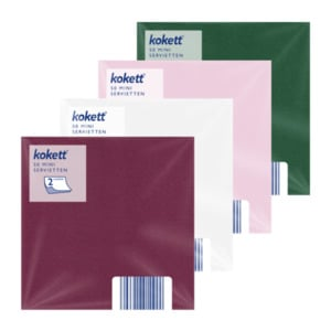 KOKETT  	   Mini Servietten