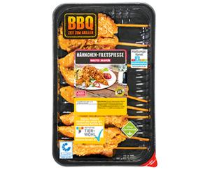 BBQ Hähnchen-Filetspieße*
