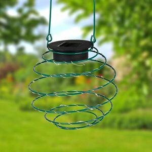 Solar-Spirallaterne 13cm Grün