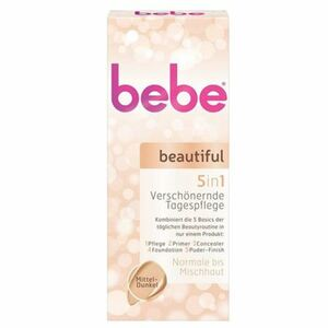 bebe beautiful 5in1 Tagespflege für mittlere bis dunkle Hauttypen 50ml