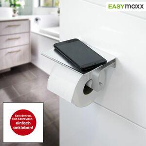 EASYmaxx Toilettenpapier-Halterung mit Ablagefläche