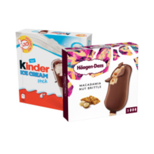Kinder Ice Cream oder Häagen Dazs Multipack