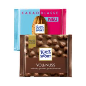 Ritter Sport Nuss-Klasse oder Kakao-Klasse