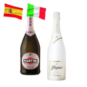 Freixenet Ice oder Martini Rosé Spumante