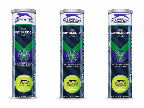 Slazenger Tennisball-Set Wimbledon Official 3 x 4er Dose