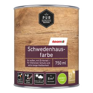 toomEigenmarken -              toom Schwedenhausfarbe 'Pur' schwedenrot seidenmatt 750 ml