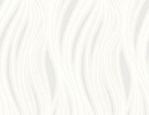 Vinyltapete Flitter Welle weiß