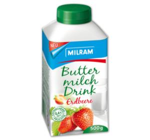 MILRAM Fruchtbuttermilch Drink