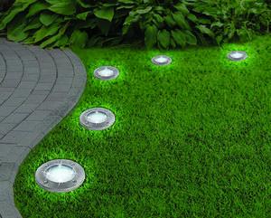 LED-Solarleuchte Disk Lights