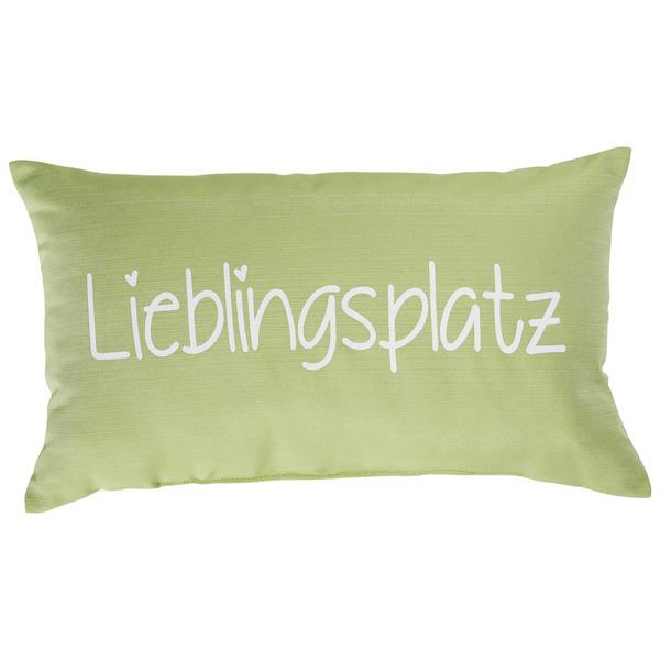 Zierkissen Lieblingsplatz (30x50, hellgrün)