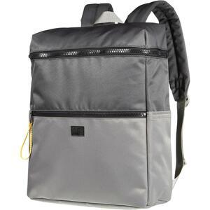 Stylisher Rucksack mit kontrastfarbigen Zip-Verlängerungen und praktischen Fächern.