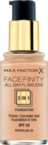 Max Factor Make-up ALL DAY FLAWLESS 3 in 1 FOUNDATION  Porcelain 30