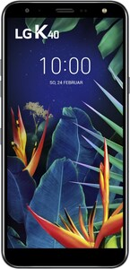 LG K40 Smartphone aurora black