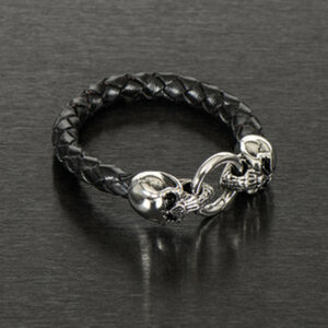 "Armband ""Skull Leather""        Länge: 21 oder 23cm"