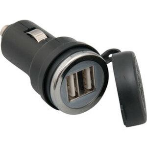 USB/ZIGARETTENANZ.STECKER        DOPPEL-USB STECKADAPTER