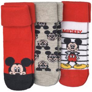 3 Paar Micky Maus Socken im Set