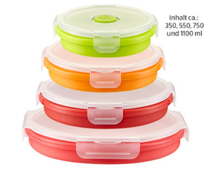 CROFTON®  Silikon-Lunchbox, 4er-Set