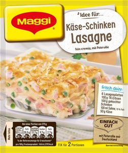 Maggi Idee für Käse-Schinken Lasagne 40 g