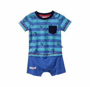 Liegelind Baby-Jungen-Spielanzug mit Brusttasche