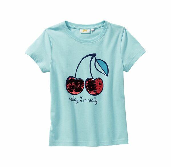Kids Mädchen-T-Shirt mit Wendepailletten