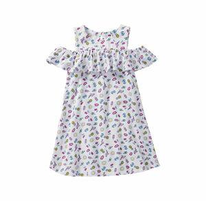Kids Mädchen-Kleid mit offener Schulter