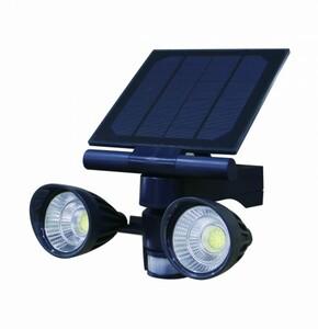 Trendline Solar LED Fluter ,  600 Lumen, schwarz mit Bewegungsmelder