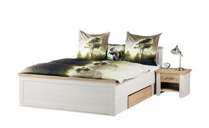 Bett mit 2 Nachtkommoden